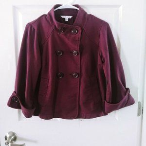 Cabi Small Plum Double Breasted Jacket Shor